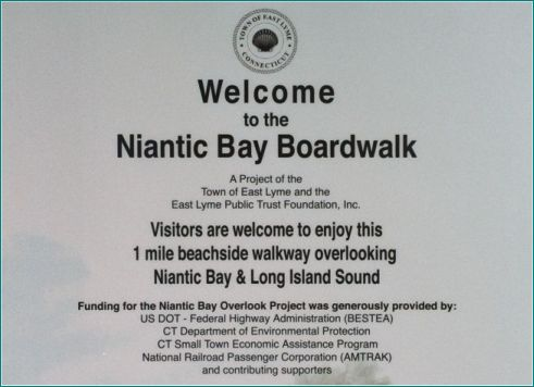 Welcome to the Niantic Bay Boardwalk